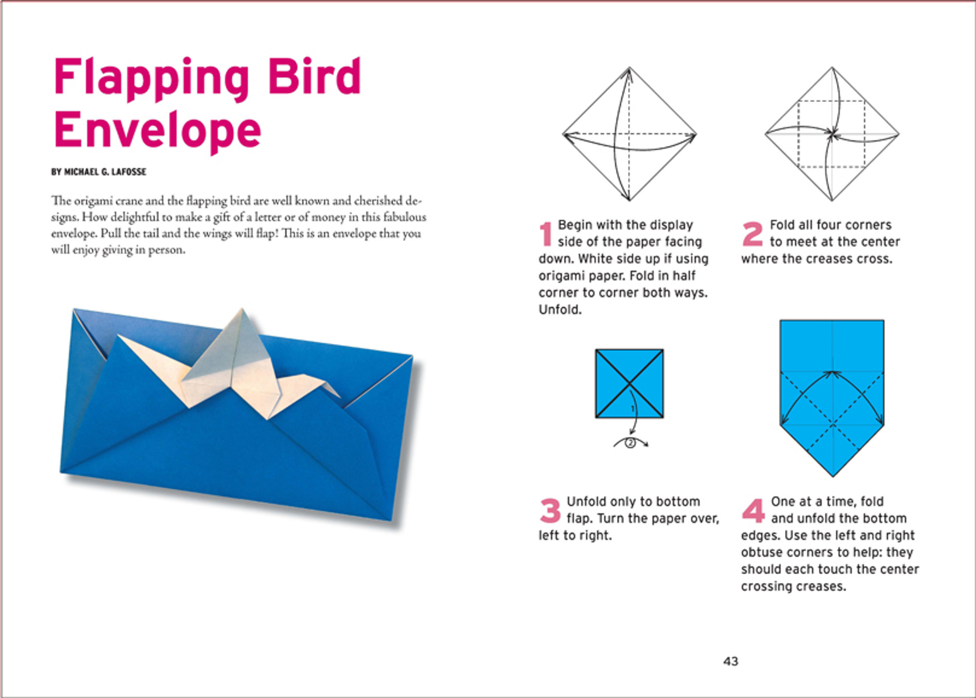Origami Flapping Bird Instructions | 1431x2000