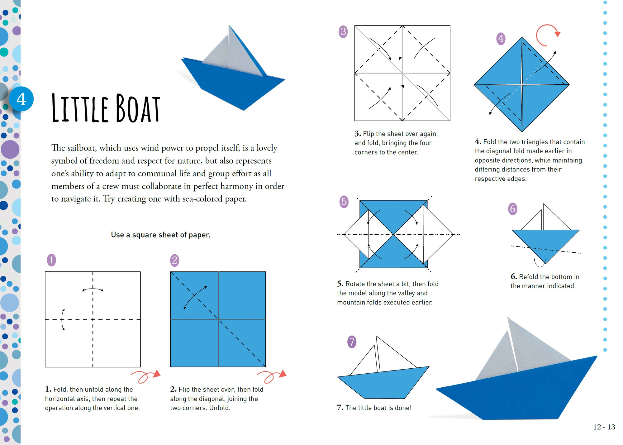 Easy Origami For Kids.: Dog(face) | Summer fun | Pinterest | Easy ... | 1428x2000