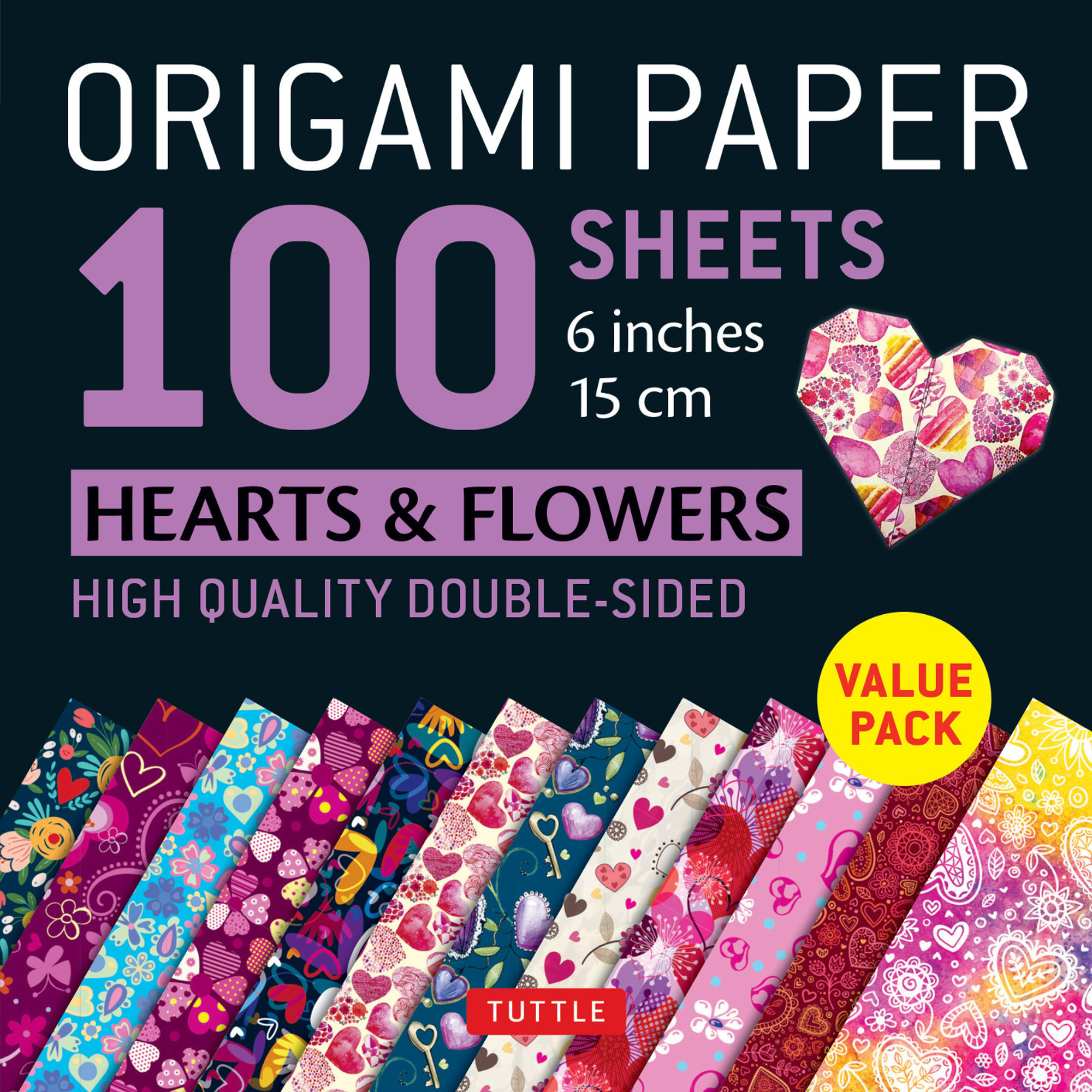 Flowers Rose Kids Arts and DIY Crafts Origami Paper Decoration Handcrafts Paper Airplanes Hearts 150 Sheets 15x15cm // 6 inch Square Paper for Fold Crane