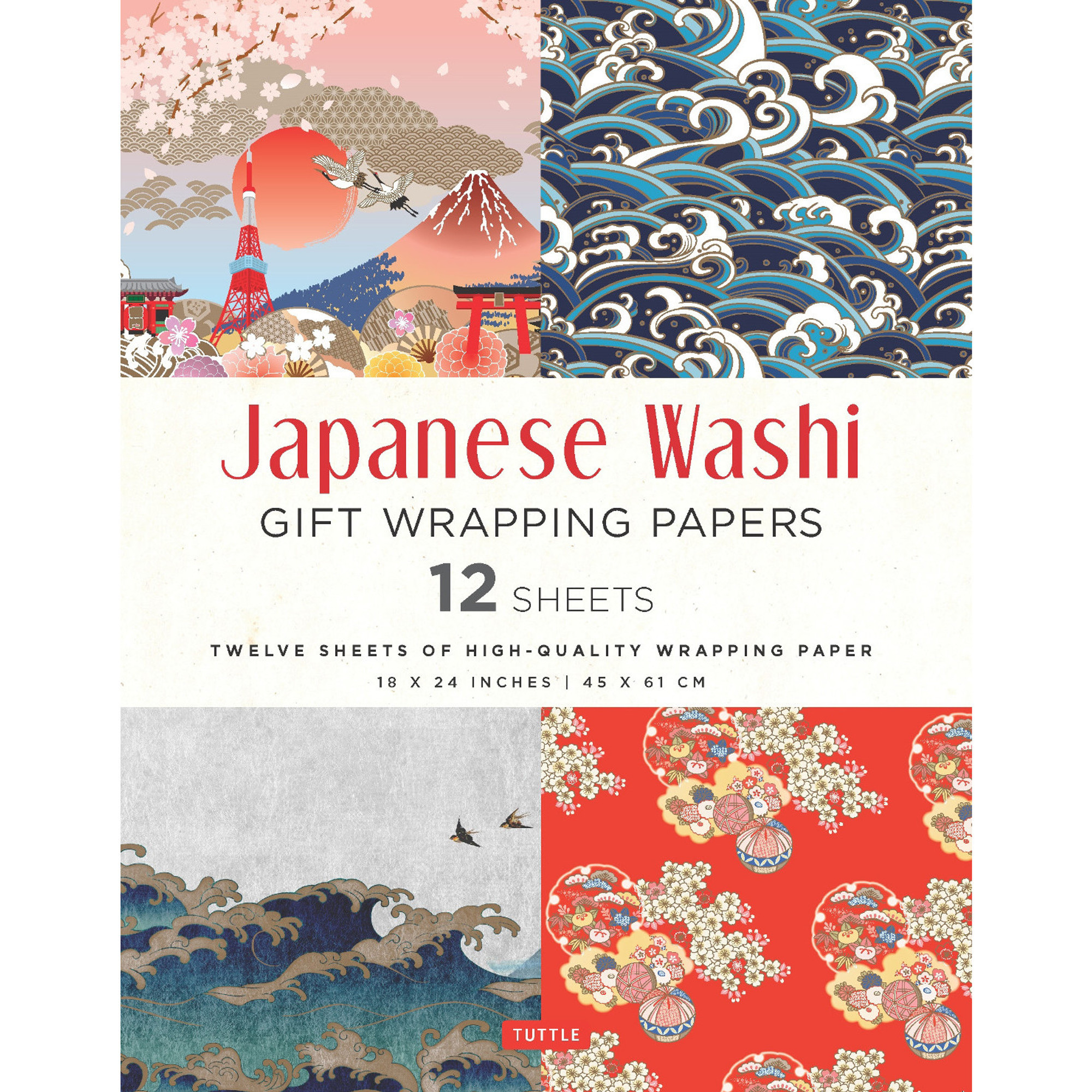 Japanese Washi Gift Wrapping Papers 12 Sheets Tuttle Publishing