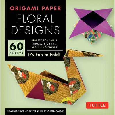 """Origami Paper - Floral Designs - 6"""" - 60 Sheets"""