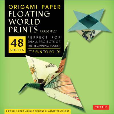 """Origami Paper - Floating World Prints - 8 1/4"""" - 48 Sheets"""