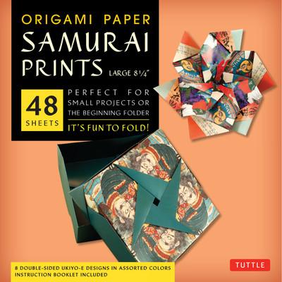 "Origami Paper - Samurai Prints - Large 8 1/4"" - 48 Sheets"