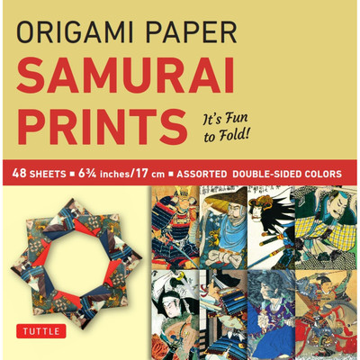 "Origami Paper - Samurai Prints - Small 6 3/4"" - 48 Sheets"