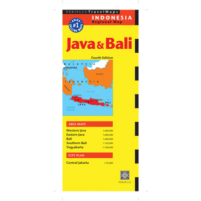Java & Bali Travel Map Fourth Edition