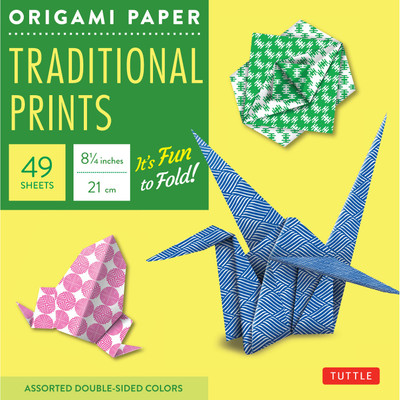 """Origami Paper - Traditional Prints - 8 1/4"""" - 49 Sheets"""