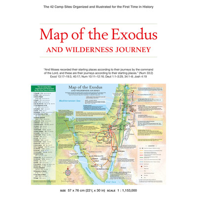 Map of the Exodus and Wilderness Journey