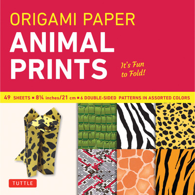 "Origami Paper - Animal Prints - 8 1/4"" - 49 Sheets"