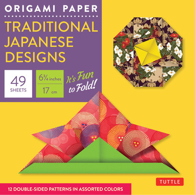 """Origami Paper - Traditional Japanese Designs - Small 6 3/4"""""""