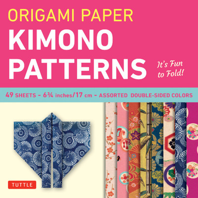 "Origami Paper - Kimono Patterns - Small 6 3/4"" - 48 Sheets"