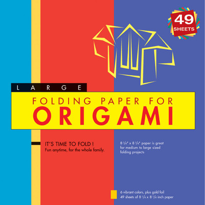 """Folding Paper for Origami - Large 8 1/4"""" - 49 Sheets"""
