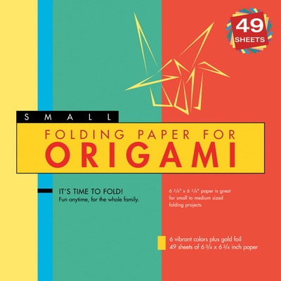 """Folding Paper for Origami - Small 6 3/4"""" - 49 Sheets"""