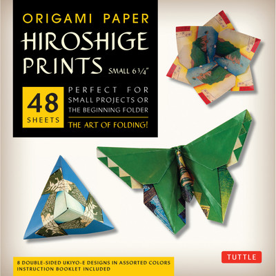 "Origami Paper - Hiroshige Prints - Small 6 3/4"" - 48 Sheets"