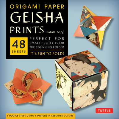 "Origami Paper - Geisha Prints - Small 6 3/4"" - 48 Sheets"