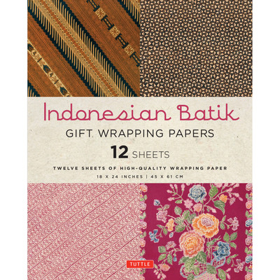 Indonesian Batik Gift Wrapping Papers - 12 Sheets