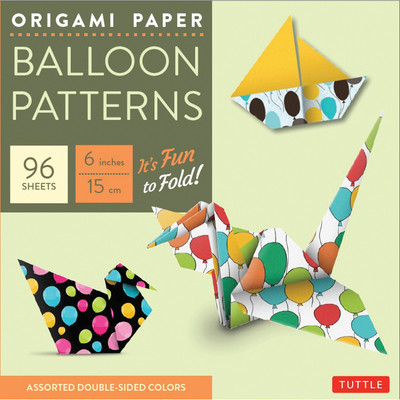 """Origami Paper - Balloon Patterns - 6"""" - 96 Sheets"""