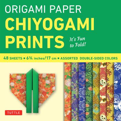 "Origami Paper - Chiyogami Prints - 6 3/4"" - 48 Sheets"