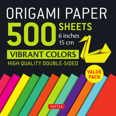"Origami Paper 500 sheets Vibrant Colors 6"" (15 cm)"