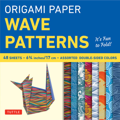 Origami Paper - Wave Patterns - 6 3/4 inch - 48 Sheets