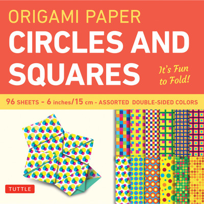 Origami Paper - Circles and Squares 6 inch - 96 Sheets