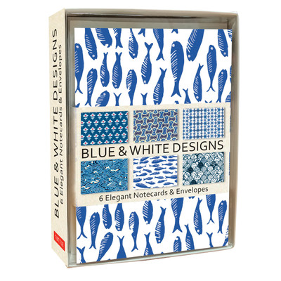 Blue & White Note Cards