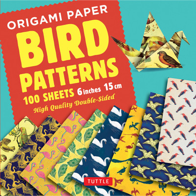 """Origami Paper 100 sheets Bird Patterns 6"""" (15 cm)"""