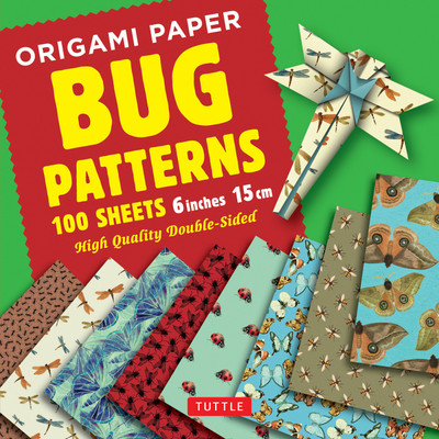 "Origami Paper 100 sheets Bug Patterns 6"" (15 cm)"