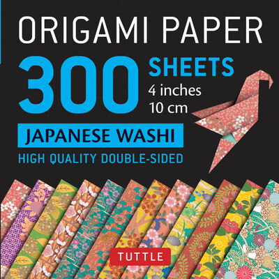 "Origami Paper 300 sheets Japanese Washi Patterns 4"" (10 cm)"