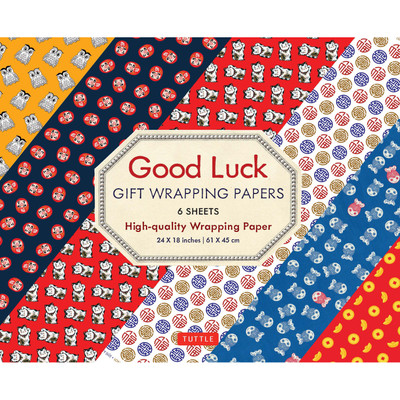 Good Luck Gift Wrapping Papers 6 sheets