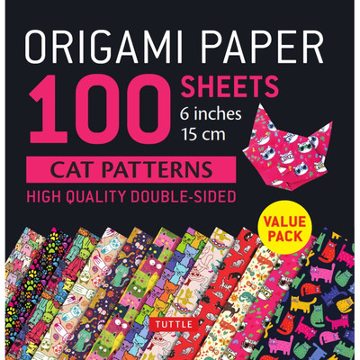 "Origami Paper 100 sheets Cat Patterns 6"" (15 cm)"