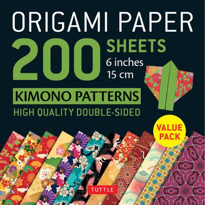 "Origami Paper 200 sheets Kimono Patterns 6"" (15 cm)"