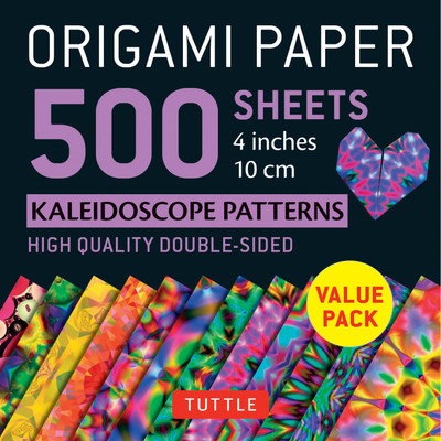 "Origami Paper 500 sheets Kaleidoscope Patterns 4"" (10 cm)"