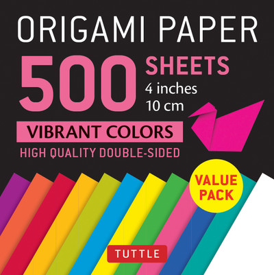 "Origami Paper 500 sheets Vibrant Colors 4"" (10 cm)"