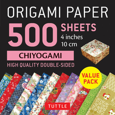 "Origami Paper 500 sheets Chiyogami Patterns 4"" (10 cm)"