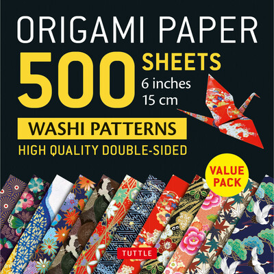 "Origami Paper 500 sheets Japanese Washi Patterns 6"" (15 cm)"