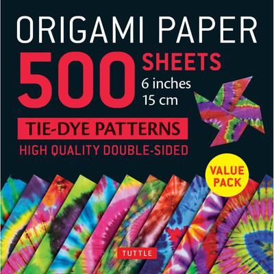 "Origami Paper 500 sheets Tie-Dye Patterns 6"" (15 cm)"