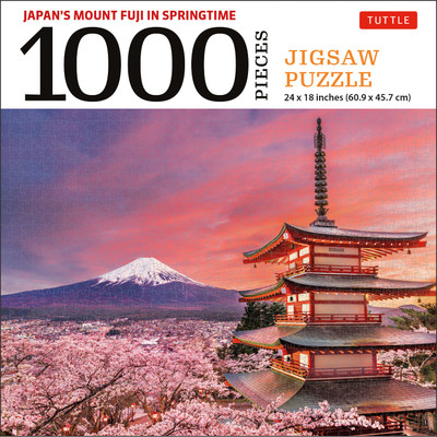 Japan's Mount Fuji in Springtime- 1000 Piece Jigsaw Puzzle