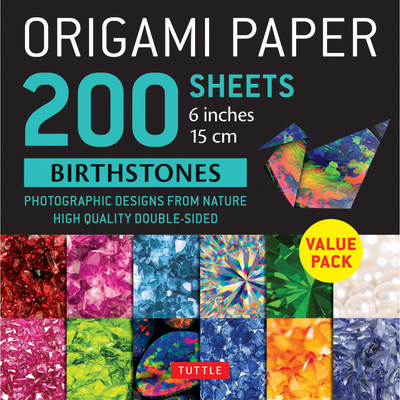 "Origami Paper 200 sheets Birthstones 6"" (15 cm)"