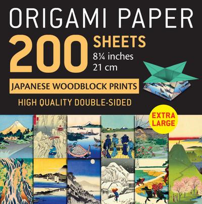 "Origami Paper 200 sheets Japanese Woodblock Prints 8 1/4"""