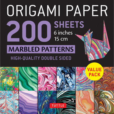 "Origami Paper 200 sheets Marbled Patterns 6"" (15 cm)"