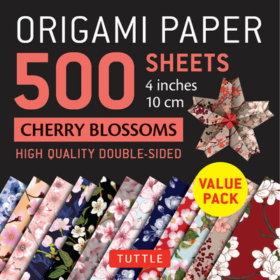 "Origami Paper 500 sheets Cherry Blossoms 4"" (10 cm)"