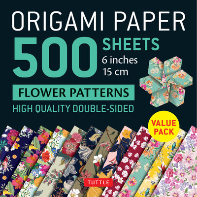 "Origami Paper 500 sheets Flower Patterns 6"" (15 cm)"