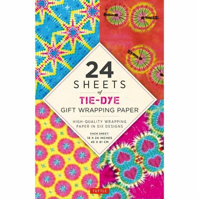 24 sheets of Tie-Dye Gift Wrapping Paper