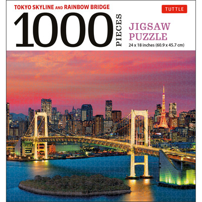 Tokyo Skyline and Rainbow Bridge - 1000 Piece Jigsaw Puzzle