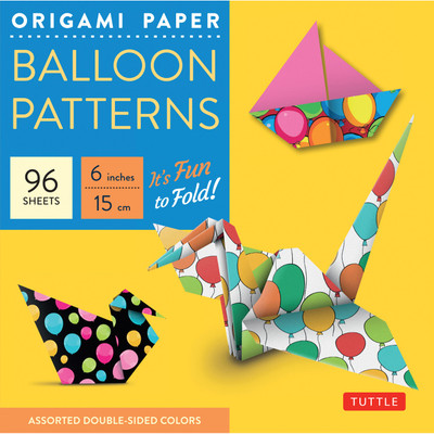 "Origami Paper Balloon Patterns 96 Sheets 6"" (15 cm)"