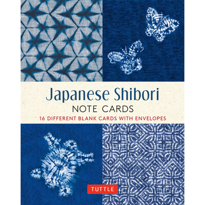 Japanese Shibori, 16 Note Cards