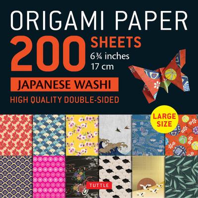 "Origami Paper 200 sheet Japanese Washi Patterns 6 3/4"" 17 cm"