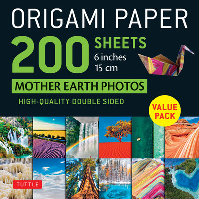 "Origami Paper 200 sheets Mother Earth Photos 6"" (15 cm)"