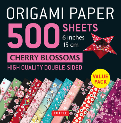 "Origami Paper 500 sheets Cherry Blossoms 6"" (15 cm)"