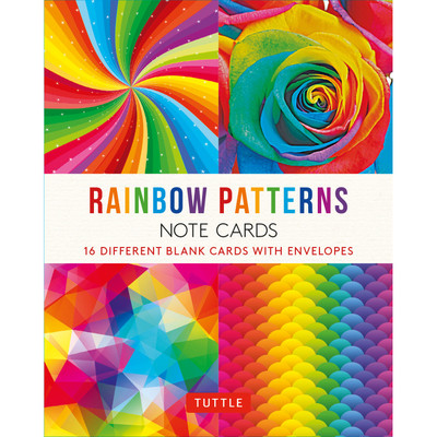 Rainbow Patterns Note Cards